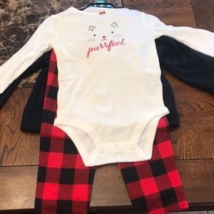 Carter's 3 piece outfit; onesie,pants, jacket